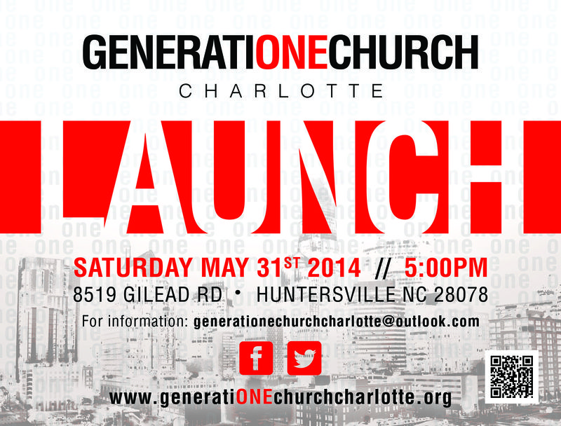 GenONEchurch - Launch Flyer